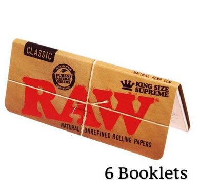 RAW Classic King Size Supreme Creaseless Rolling Papers - Zootalicious