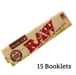 RAW Organic Hemp King Size Slim Rolling Papers - Zootalicious