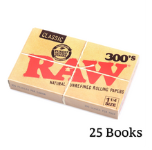 Load image into Gallery viewer, RAW Classic 300's 1 1/4 Size Creaseless Rolling Papers - Zootalicious