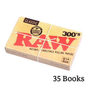 RAW Classic 300's 1 1/4 Size Creaseless Rolling Papers - Zootalicious