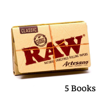 RAW Classic Artesano 1 1/4 Rolling Papers Tips & Tray - Zootalicious