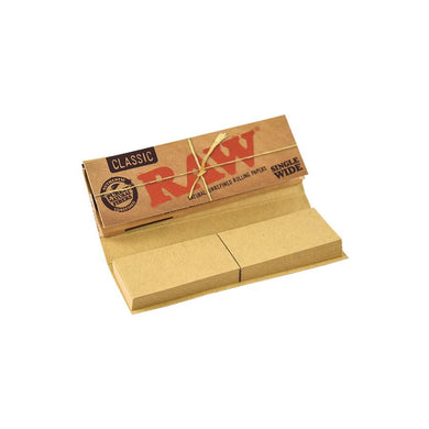 RAW Classic Single Wide Connoisseur Rolling Papers with Tips - Zootalicious