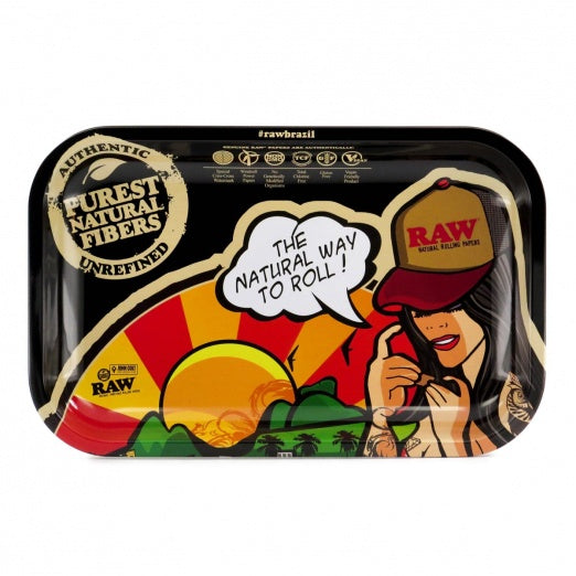 RAW Brazil Small Metal Rolling Tray - Zootalicious