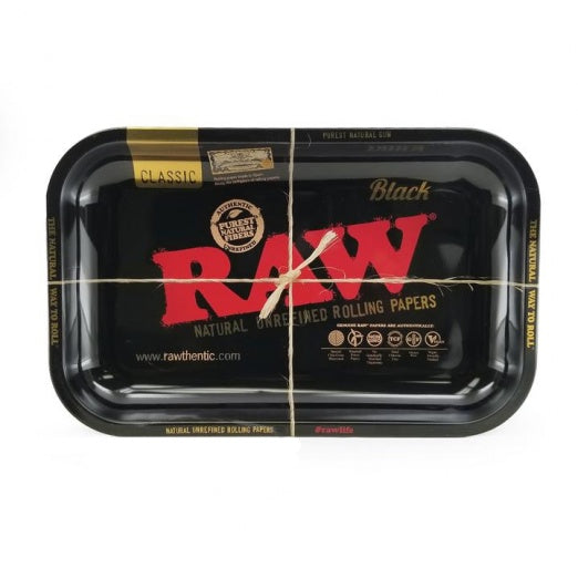RAW Black Small Metal Rolling Tray - Zootalicious