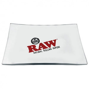 RAW Mini Clear Glass Rolling Tray - Zootalicious