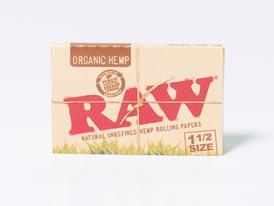 RAW Organic Hemp 1 1/2 Size Rolling Papers - Zootalicious