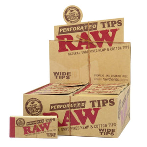 RAW Wide Perforated Hemp & Cotton Tips - Zootalicious