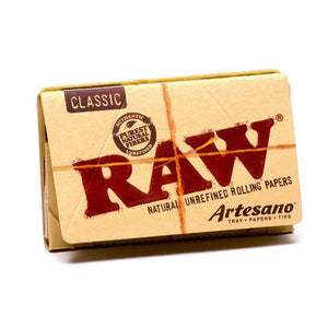 RAW Organic Artesano 1 1/4 Size Rolling Papers & Tips - Zootalicious