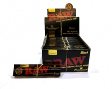 Load image into Gallery viewer, RAW BLACK Classic Connoisseur King Size Slim Rolling Papers & Tips - Zootalicious