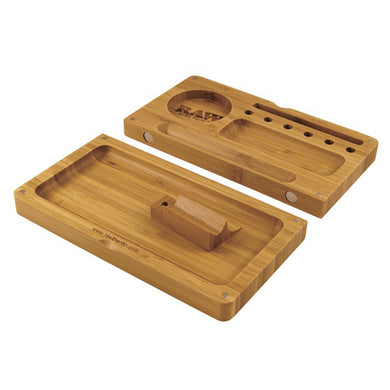 RAW Backflip Bamboo Wooden Rolling Filling Tray - Zootalicious