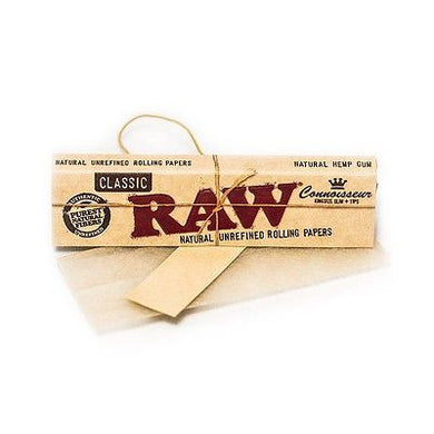 RAW Classic Connoisseur 1 1/4 Size Rolling Papers with Tips - Zootalicious