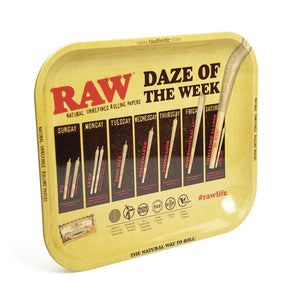 RAW Daze of the Week Medium Metal Rolling Tray - Zootalicious