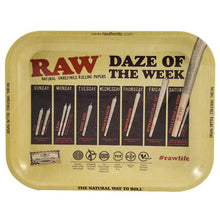 Load image into Gallery viewer, RAW Daze of the Week Medium Metal Rolling Tray - Zootalicious