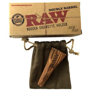 RAW Double Barrel King Size Wooden Cigarette Holder - Zootalicious