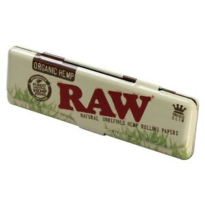 RAW Organic King Size Slim Papers Holder Case Tin - Zootalicious