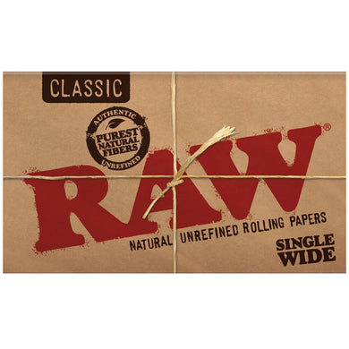 RAW Classic Single Wide Double Packs Standard Size Rolling Papers - Zootalicious