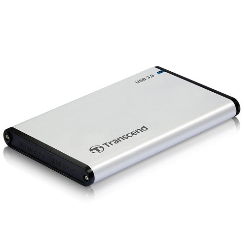"Transcend S3 -2.5"" Aluminum Case USB 3.0 Password Protection / One Touch Backup HDD Case"