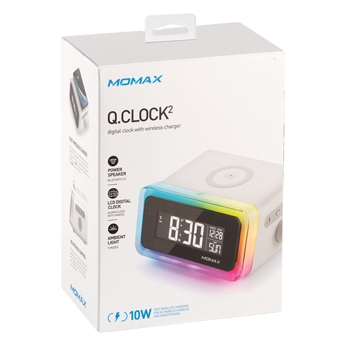 Momax Q.Clock2 Digital Clock with Wireless Charging