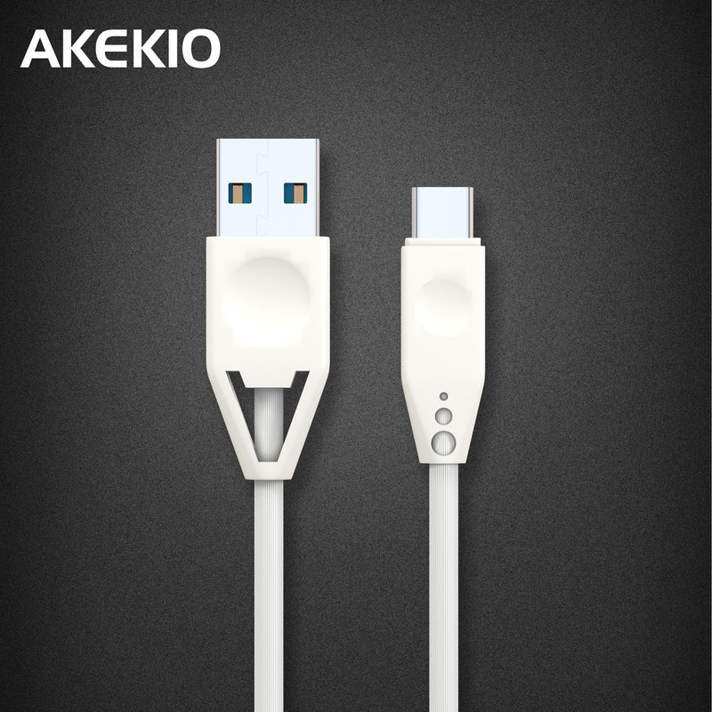 Akekio UC06 Fatst Charging USB Type C Charning+Data Sync Cable,2.4A