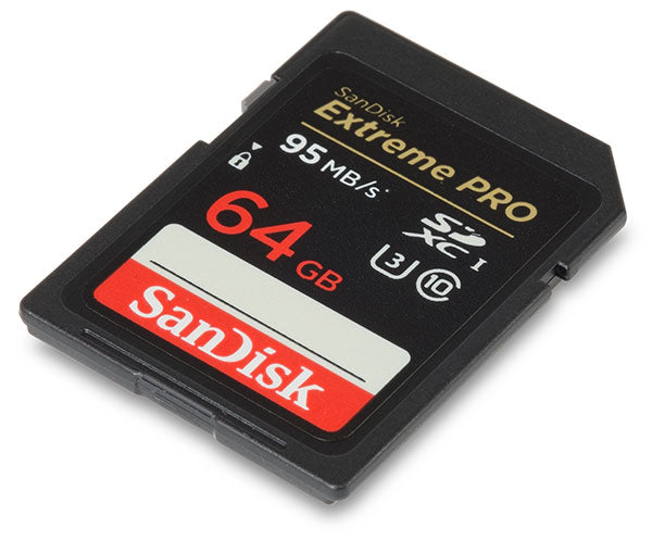 Sandisk Extreme Pro 64gb Sdxc Flash 4k Memory Card 95mb/s
