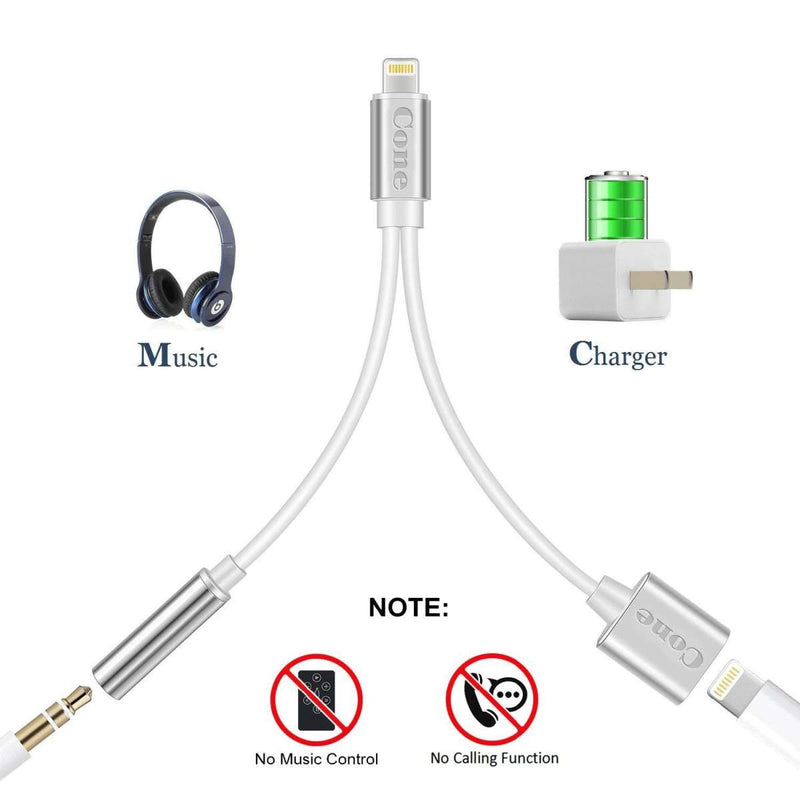 Lightning To 3.5Mm Aux Headphone Jack Audio Adapter For Iphone 7/ 8/ X/ 7 Plus/ 8 Plus