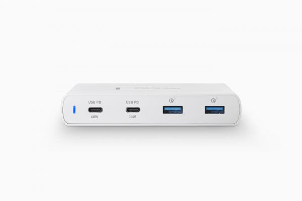 Prolink 2-Port USB Charger USB3.0 + 2-Port type-C (60W & 30W) - PDC49001