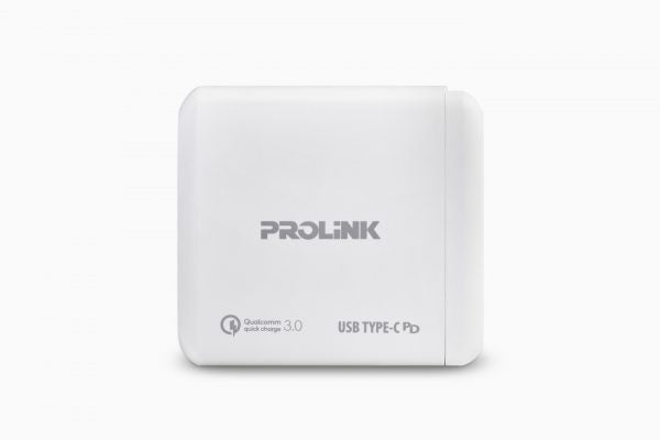 Prolink 2-Port USB Wall Charger with type-C 60W - PTC26001