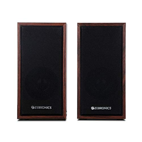 Zebronics 2.0 (10W) USB powered Multimedia Speaker with Wooden finish. AUX with volume control  ZEB-S999