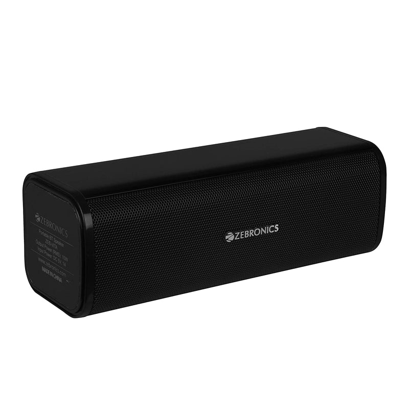 Zebronics 10W Portable Bluetooth Speaker with USB, MicroSD, Built-in FM, AUX & Call Function  ZEB-VITA