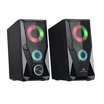 Zebronics 2.0 (10W) USB powered Multimedia Speaker with RGB LED Lights. AUX with volume control  ZEB-WARRIOR