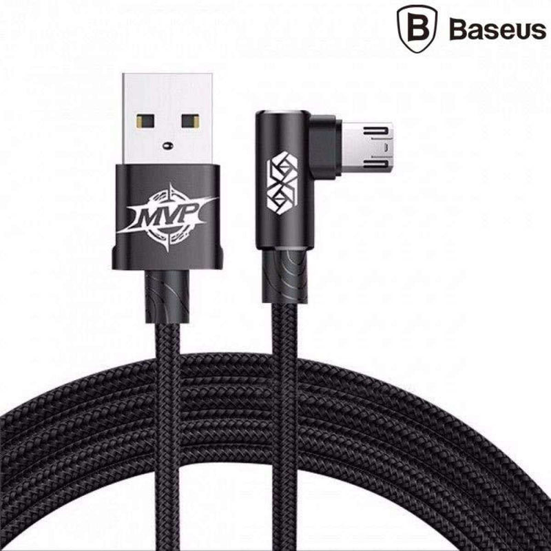 Genuine Baseus MVP Elbow 2A Micro USB Data Sync Charger Cable