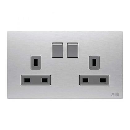 ABB Double Switch Socket 2G 13A