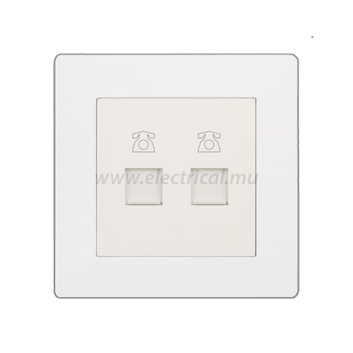 Hager Muse RJ11 Telephone Socket (2 Modules)