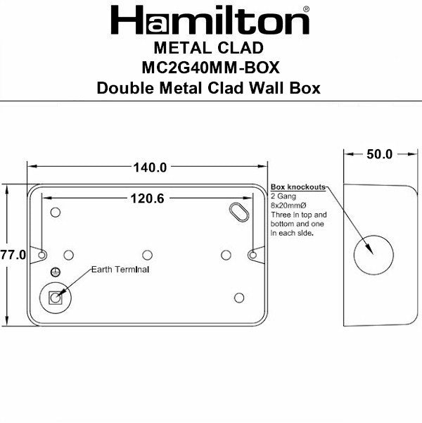 Hamilton Metalclad Back Boxes