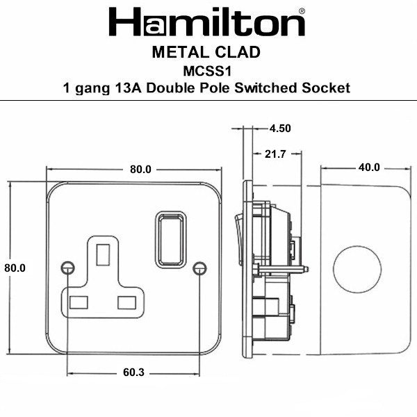 Hamilton Metalclad Sockets