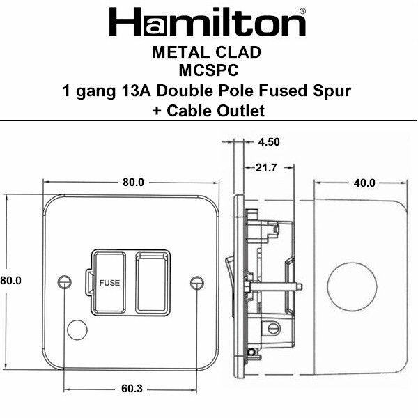 Hamilton Metalclad Connection Units