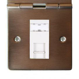 Hamilton Sheer Floor Telephone and Data Sockets