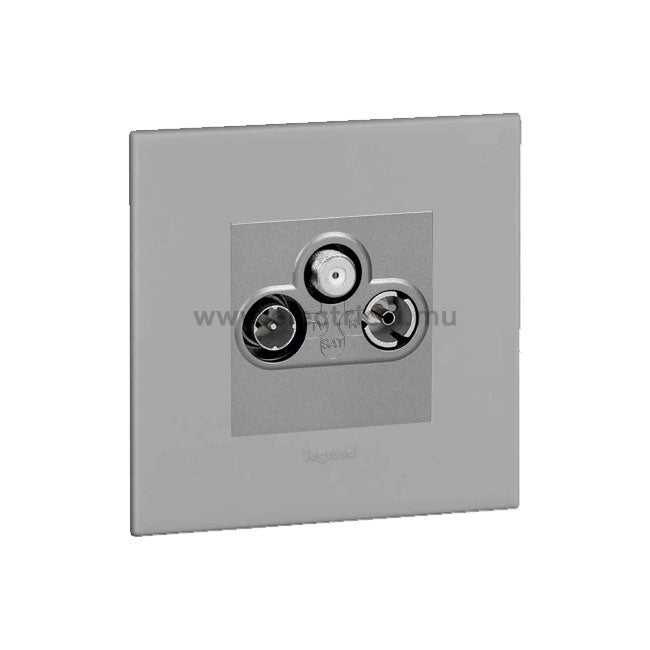 Legrand Arteor TV Socket - TV Socket - TV-R-SAT Shielded - with Plates 2 Modules