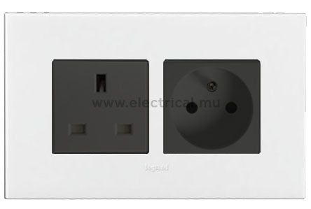 Legrand Arteor Combined Sockets with Plate - EN 13 A & FR 16 A - 2P+E