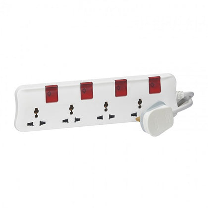 Legrand Multi-Standard Multi-Outlet Extensions 4 x 2P+E