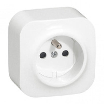 Legrand French Standard Socket Forix - Surface Mounting (IP2X) - 16 A ~ 250 V - 2P + E & 2 x 2P + E