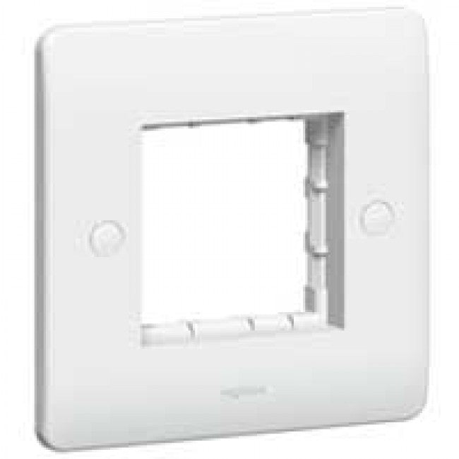 Legrand Synergy White Single | Double Carrier plate