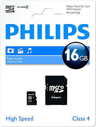 Philips - Micro SD 16GB w/adapter