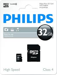 Philips - Micro SD 32GB w/adapter