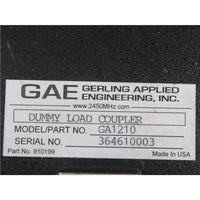 GAE Gerling Applied Engineering Industrial Waveguide WR284 Dual Coupler E-Bend Unit 910303 Used In Good Condition