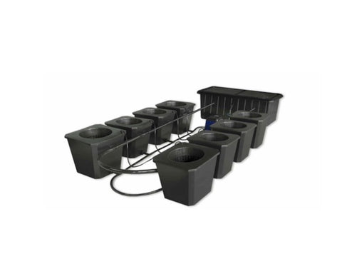 SuperCloset 8-Site Bubble Flow Buckets Hydroponic Grow System