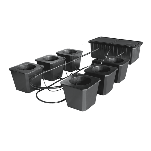 SuperCloset 6-Site Bubble Flow Buckets Hydroponic Grow System - SproutRite