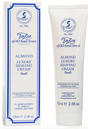 Taylor of Old Bond Street Almond Shaving Cream Tube 75ml