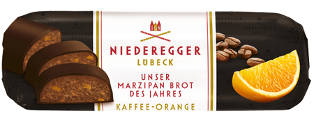 NIEDEREGGER MARZIPAN COFFEE & ORANGE 125G