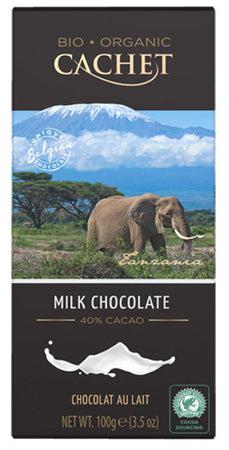 Cachet Milk chocolate Organic 100g (40%)